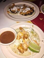 Shrimp Taco / Black Bean & Sweet Potato Taco