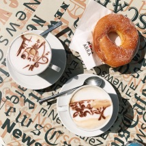 Cappuccino and donut