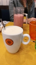 Chai Latte and Strauss Smoothie