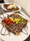 Waffle with Nutella and Fruit