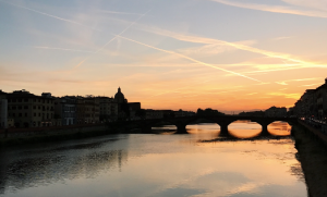 Fiume Arno Sunset