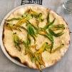 Zucchini Flower White Pizza
