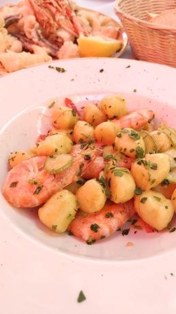 Gnocchi with prawns
