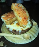 Bohemian mac and cheese with tomato butter toast