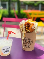 Dirty Dipped Waffles Fries + Frozen Lemonade